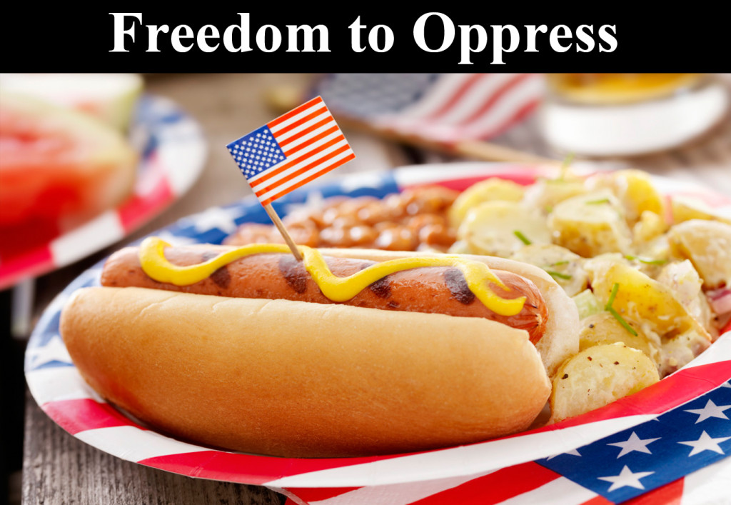 Freedom-to-oppress